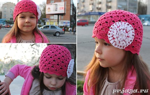 Детские шапка и шарфик спицами