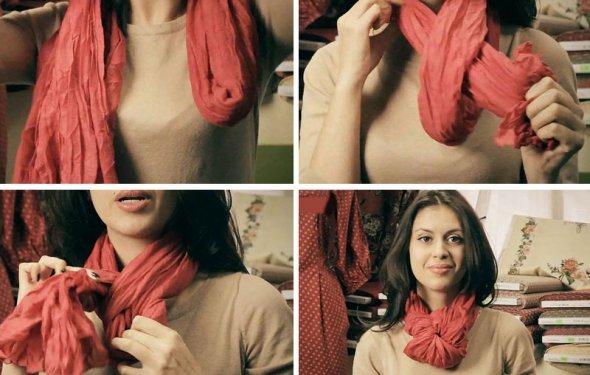 Как красиво завязать шарф или