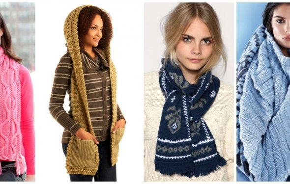 Вязаный шарф: стильное тепло