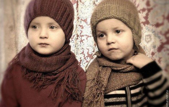 Купить Шапка с шарфом
