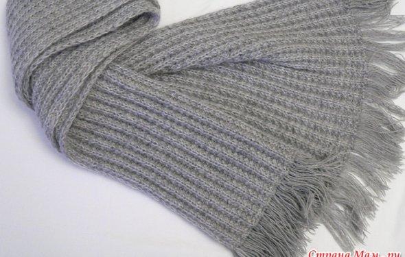 Мужской шарф с эффектным