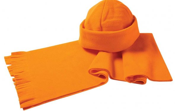 Набор: шарф и шапка, оранжевый