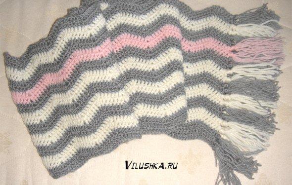 как связать шарф крючком