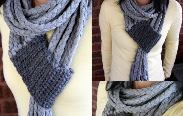 Вязаные шарфы своими руками