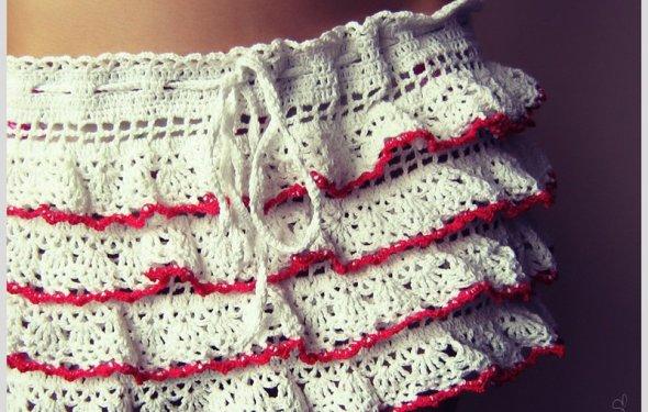 Вязаня ажурная юбочка крючком