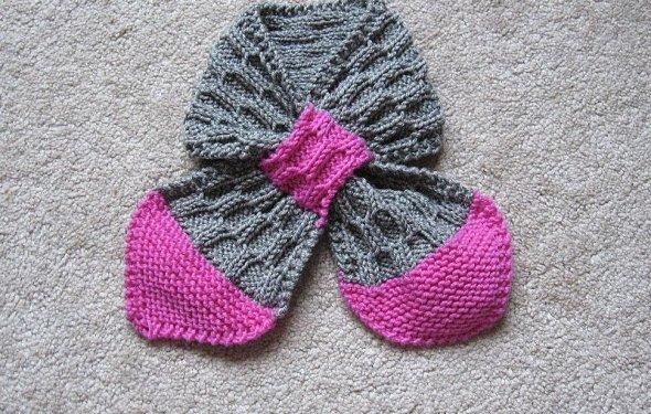 детский двухцветный шарф