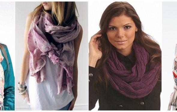 Видео как можно завязывать шарфы